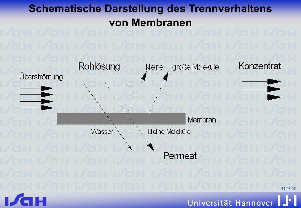 Schematische Darstellung des Trennverhaltens