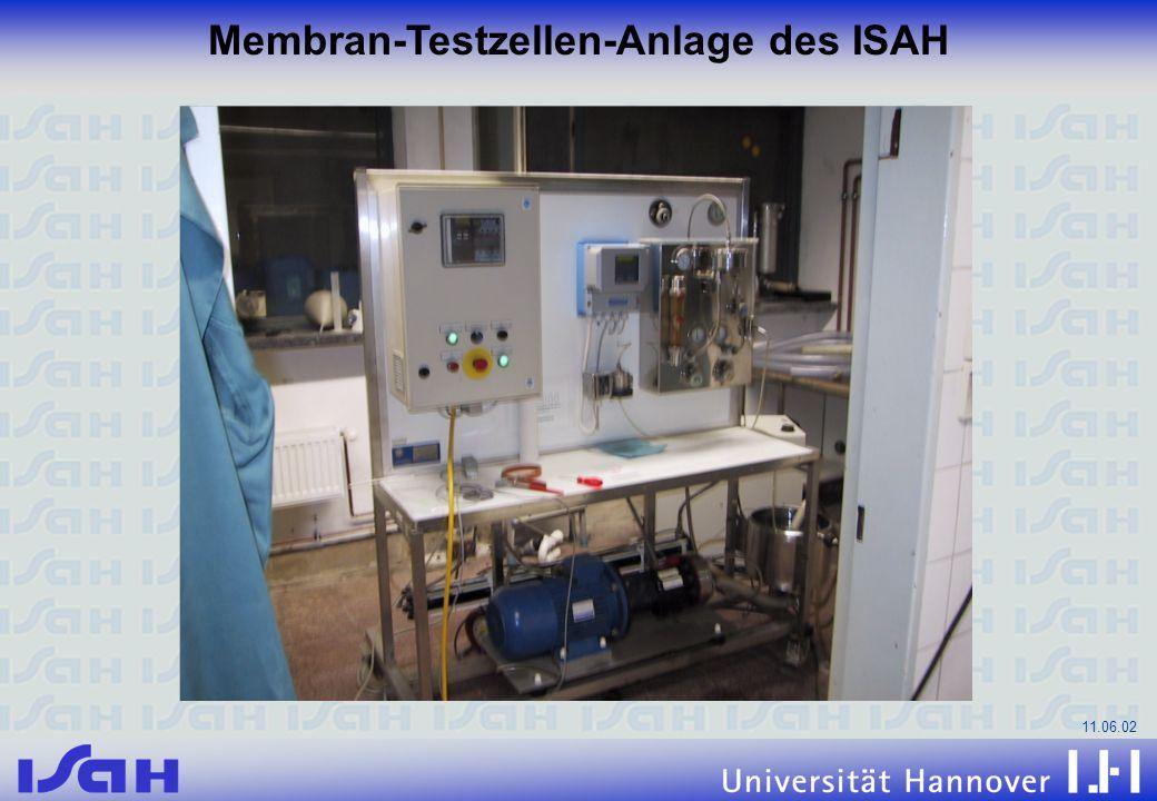 Membran-Testzellen-Anlage des ISAH