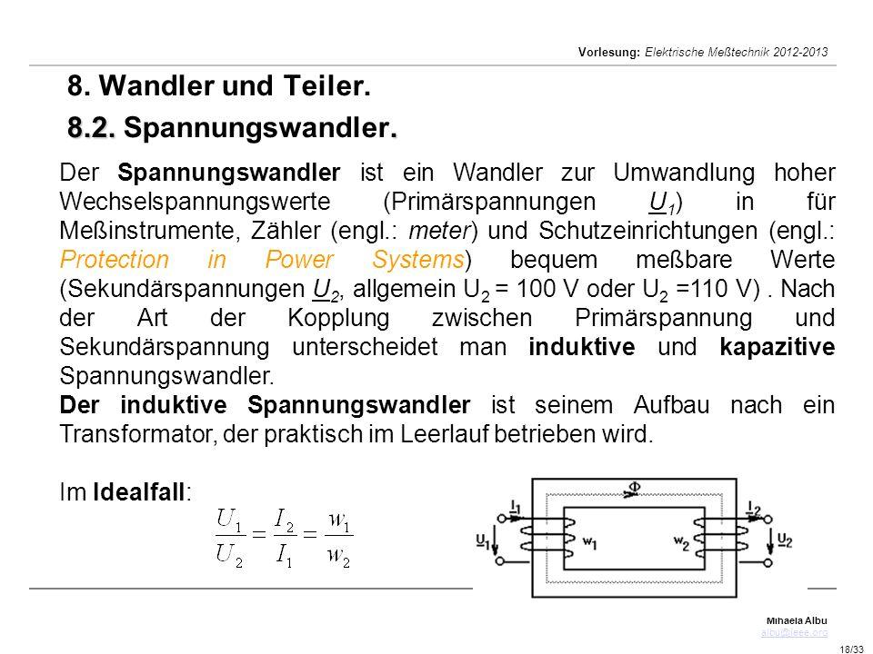 8. Wandler und Teiler. 8.2. Spannungswandler.