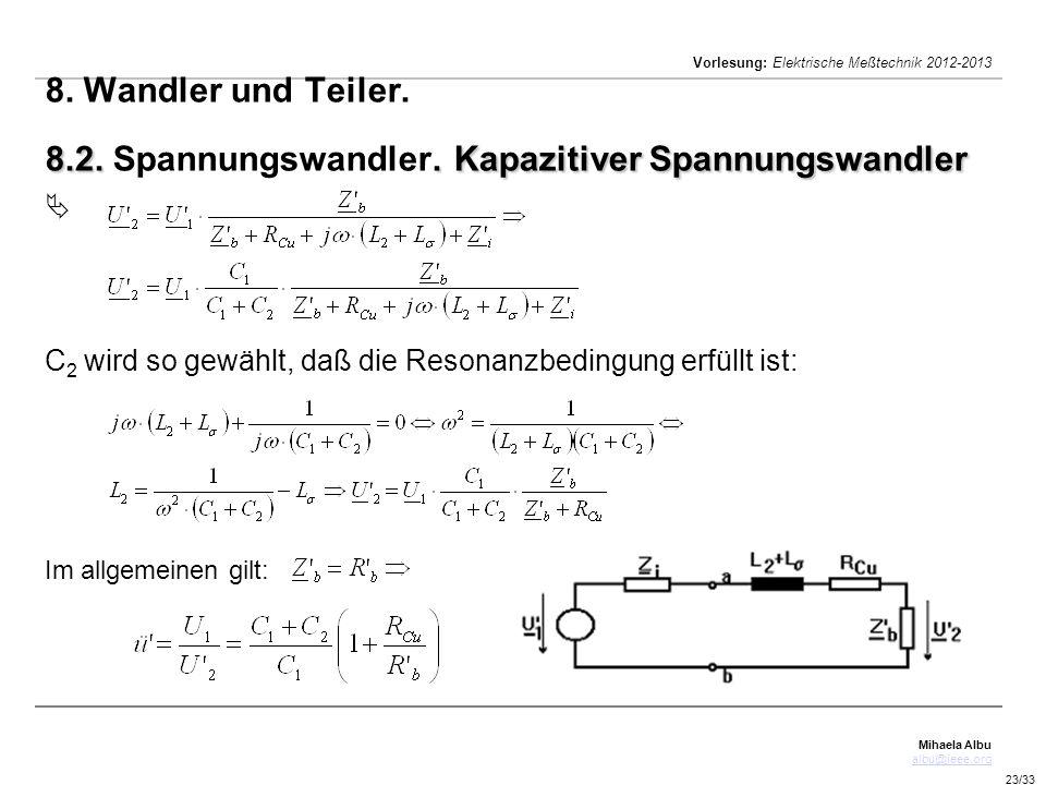 8. Wandler und Teiler. 8. 2. Spannungswandler