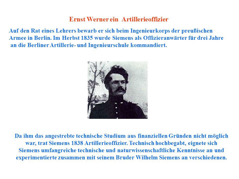 Ernst Werner ein Artillerieoffizier