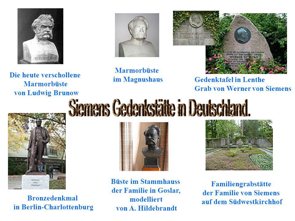 Siemens Gedenkstätte in Deutschland.