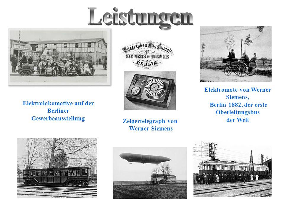 Leistungen Elektromote von Werner Siemens,