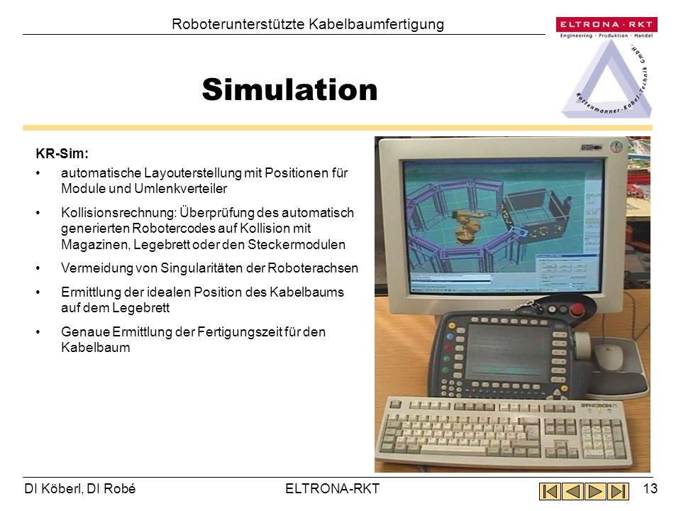 Simulation Roboterunterstützte Kabelbaumfertigung KR-Sim: