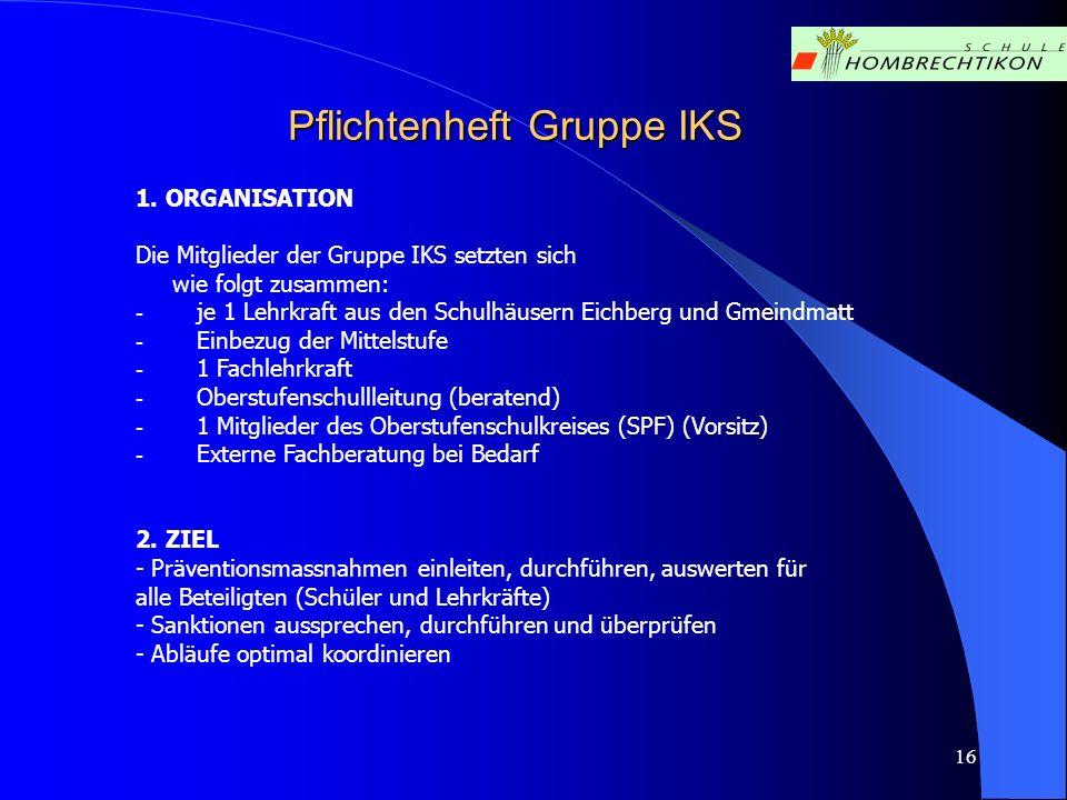 Pflichtenheft Gruppe IKS