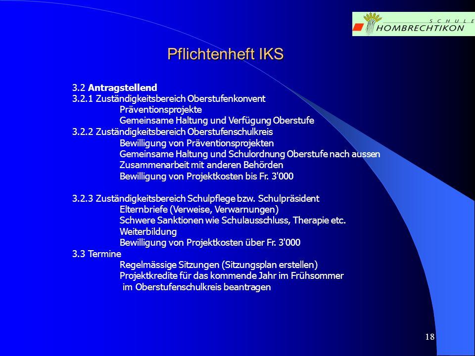 Pflichtenheft IKS 3.2 Antragstellend