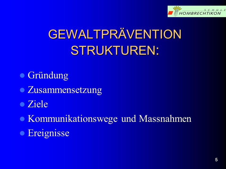 GEWALTPRÄVENTION STRUKTUREN: