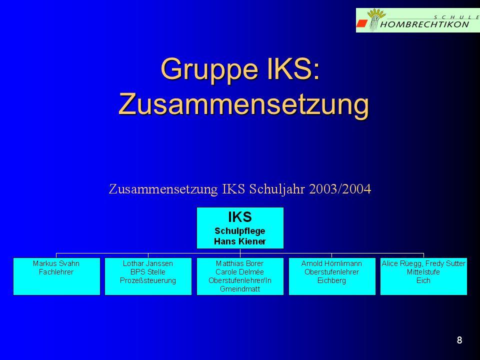 Gruppe IKS: Zusammensetzung