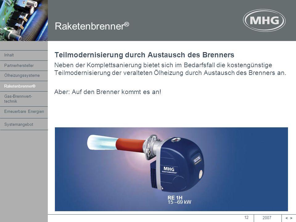 Raketenbrenner® Teilmodernisierung durch Austausch des Brenners