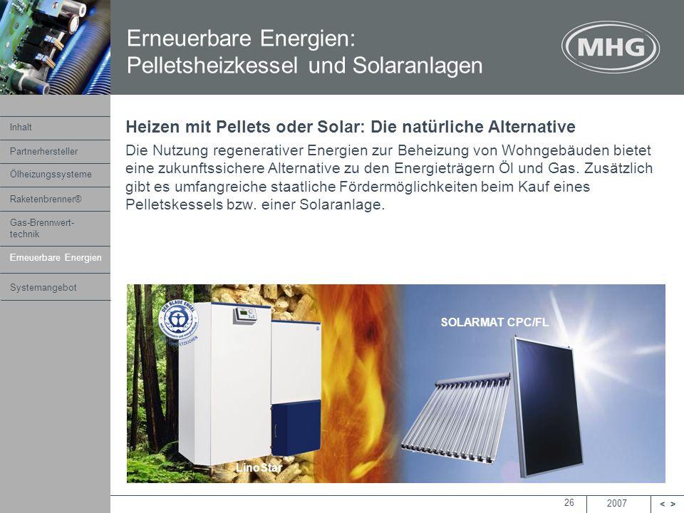Erneuerbare Energien: Pelletsheizkessel und Solaranlagen