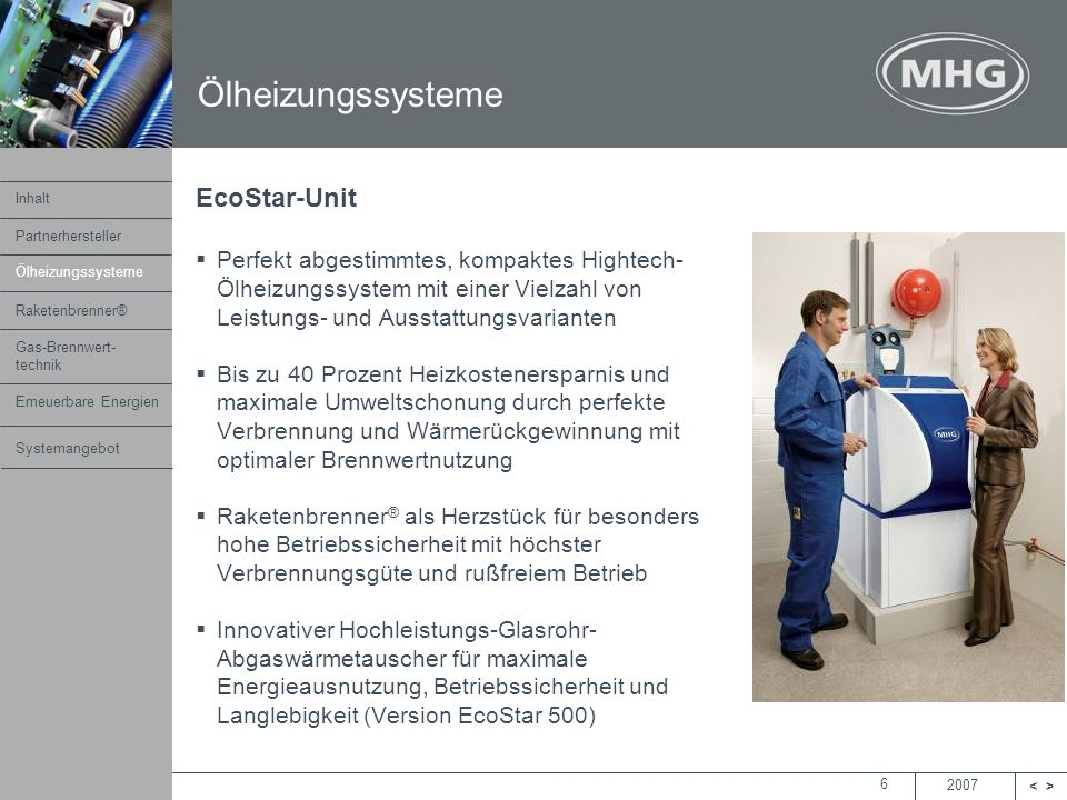 Ölheizungssysteme EcoStar-Unit