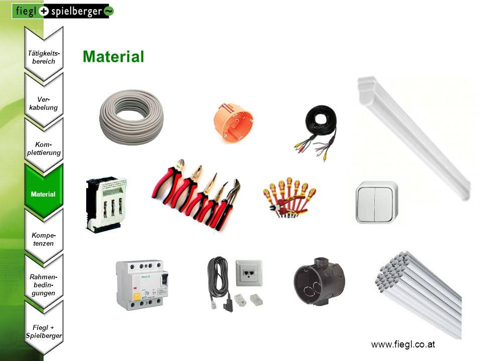Material www.fiegl.co.at Tätigkeits- bereich Ver- kabelung Kom-