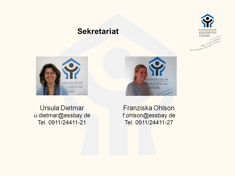 Sekretariat Ursula Dietmar Franziska Ohlson u.dietmar@essbay.de