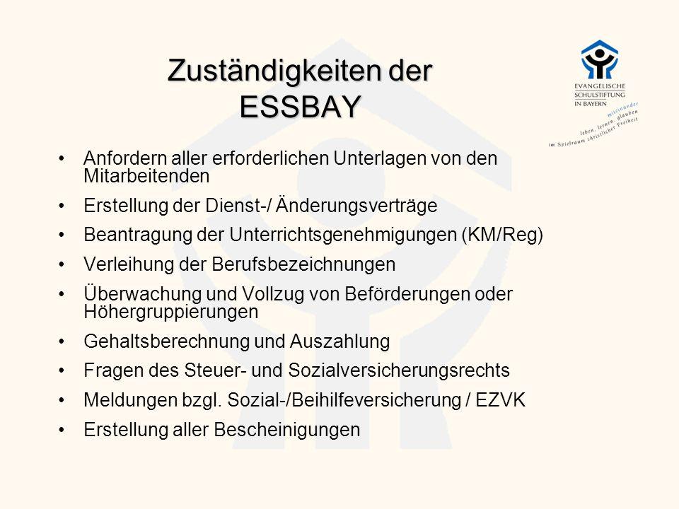 Zuständigkeiten der ESSBAY
