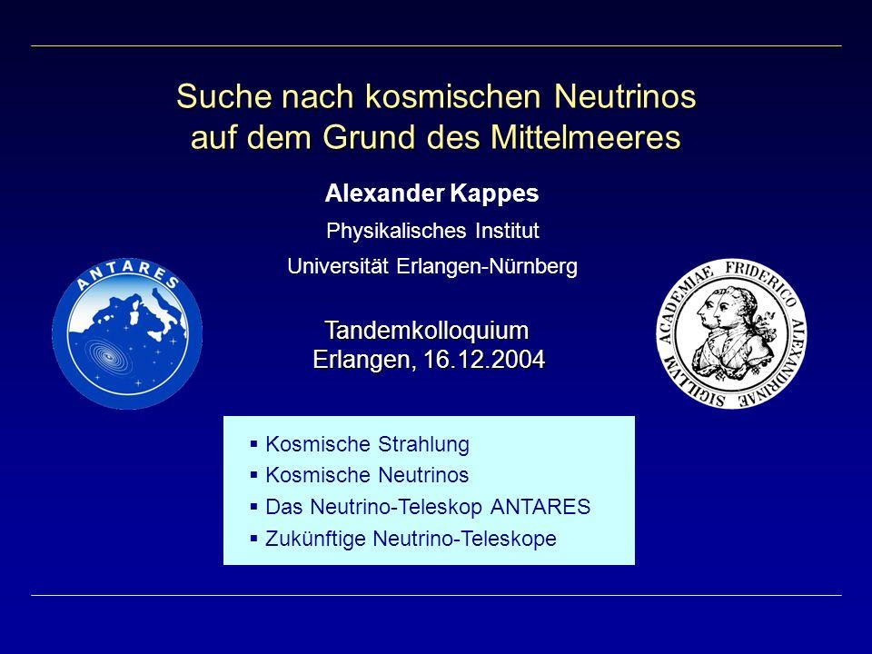 Suche nach kosmischen Neutrinos auf dem Grund des Mittelmeeres