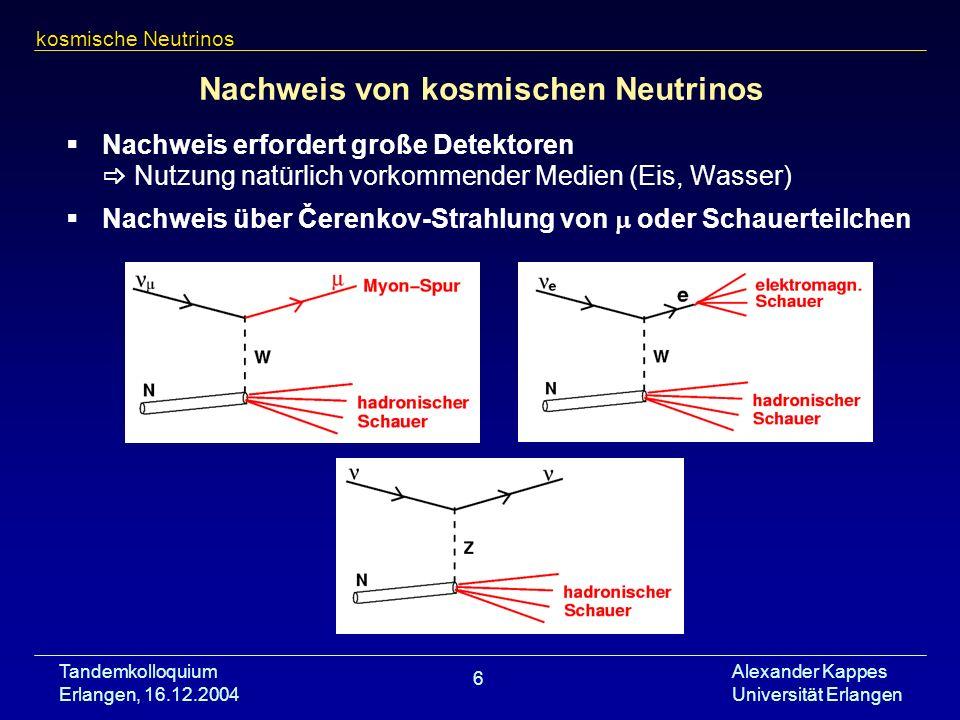 Nachweis von kosmischen Neutrinos