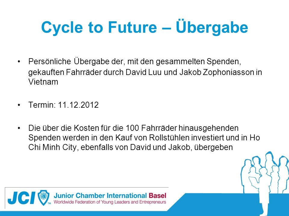 Cycle to Future – Übergabe