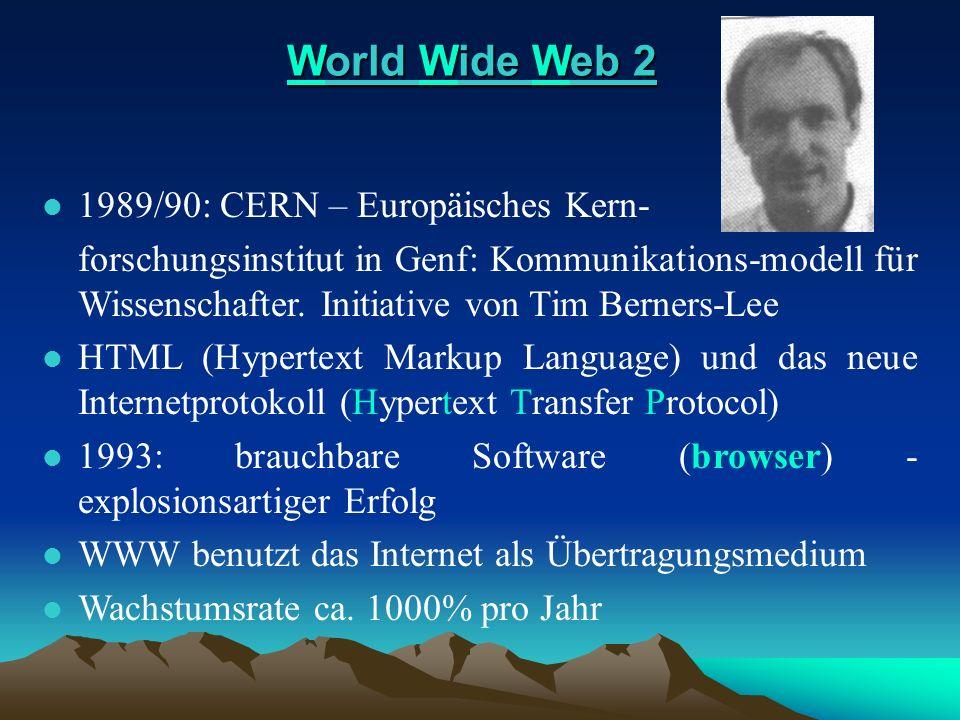 World Wide Web 2 1989/90: CERN – Europäisches Kern-