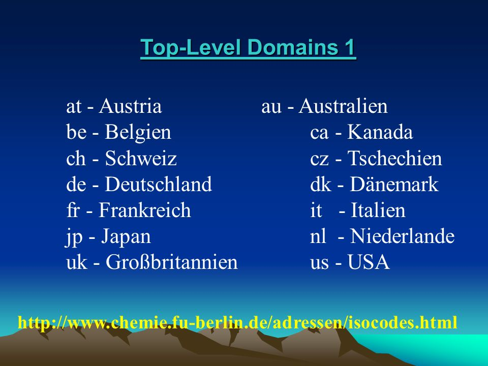 Top-Level Domains 1