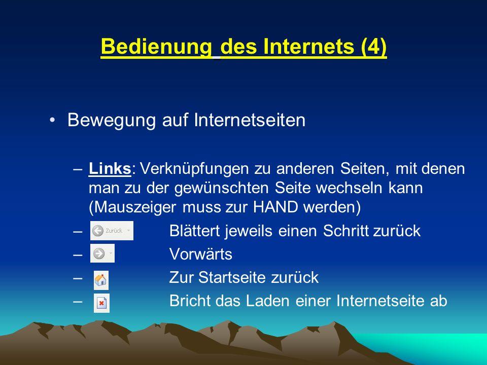 Bedienung des Internets (4)