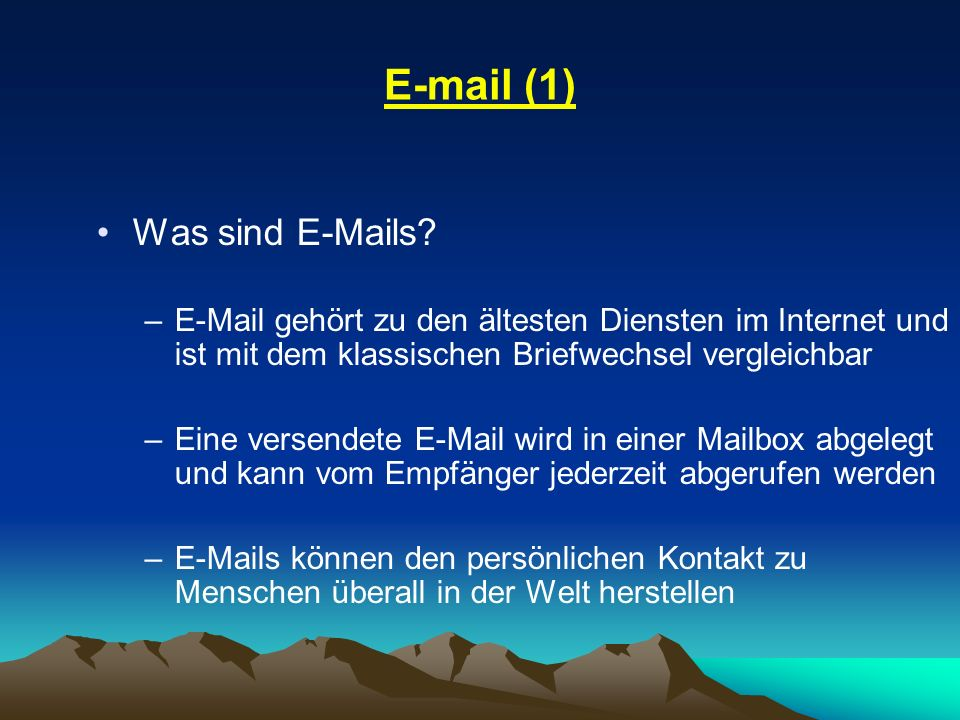 E-mail (1) Was sind E-Mails
