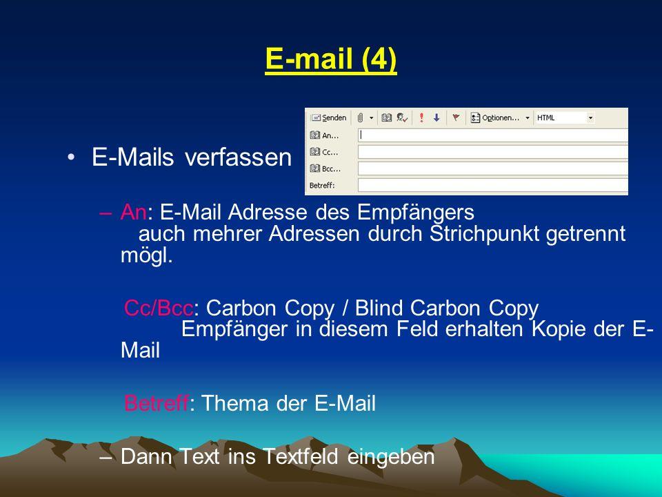 E-mail (4) E-Mails verfassen