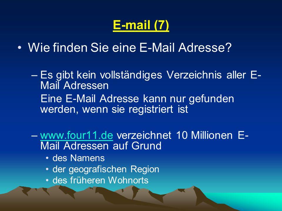 Wie finden Sie eine E-Mail Adresse
