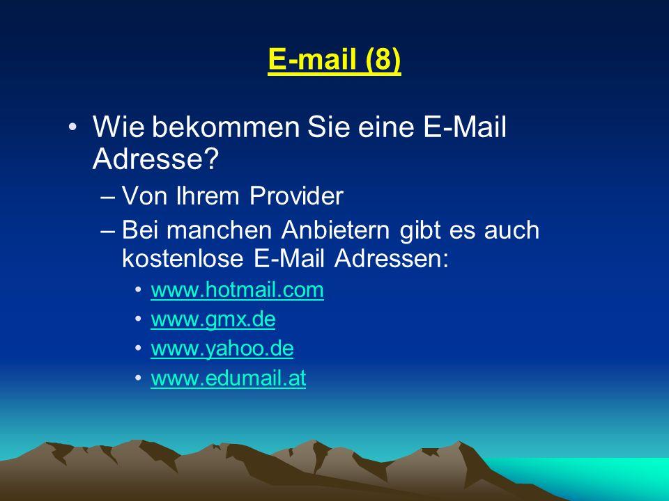 Wie bekommen Sie eine E-Mail Adresse