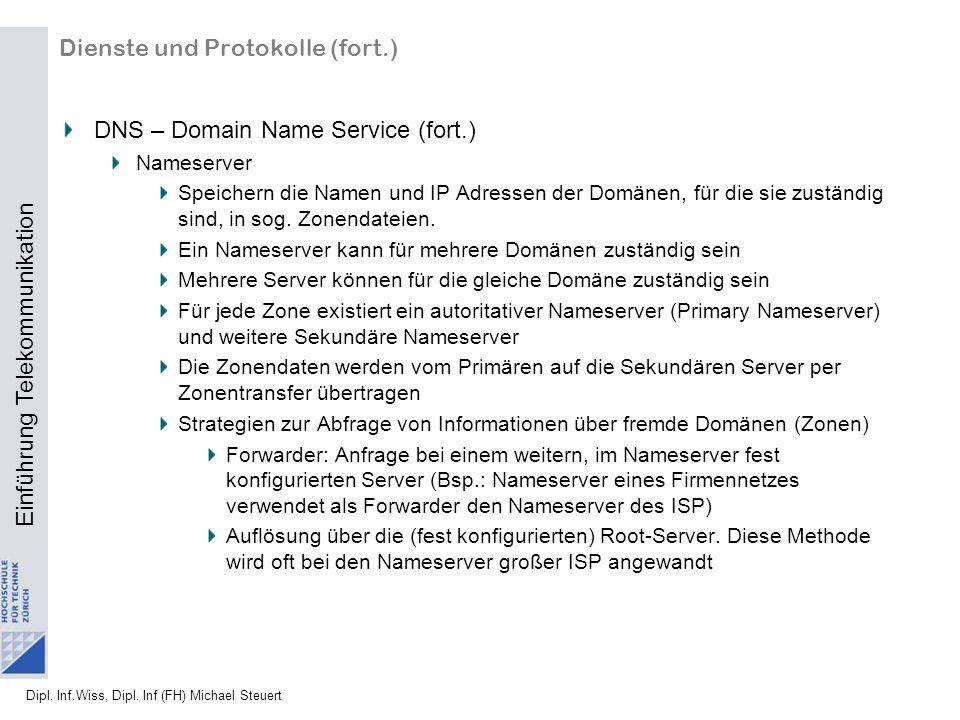 Dienste und Protokolle (fort.)