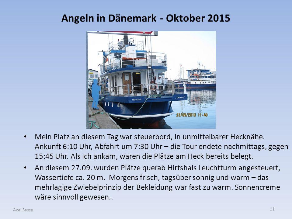 Angeln in Dänemark - Oktober 2015