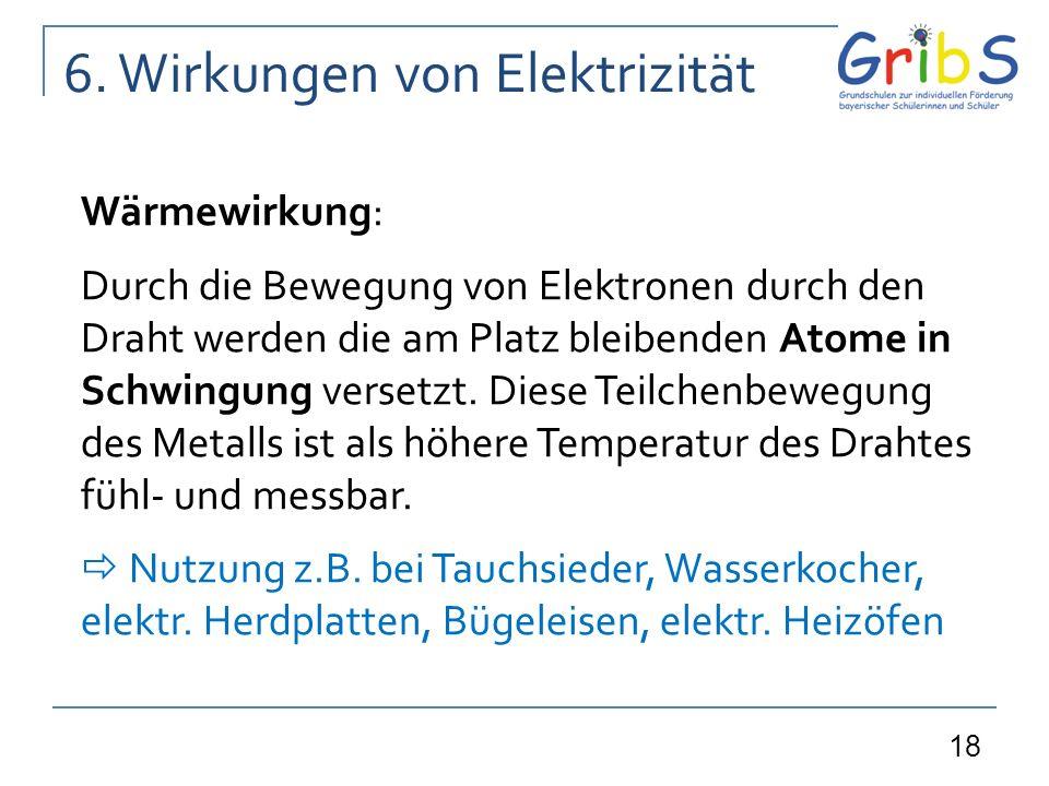 6. Wirkungen von Elektrizität