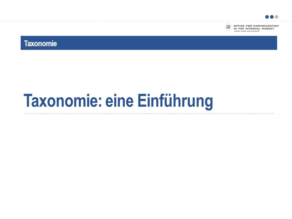 Taxonomie: eine Einführung