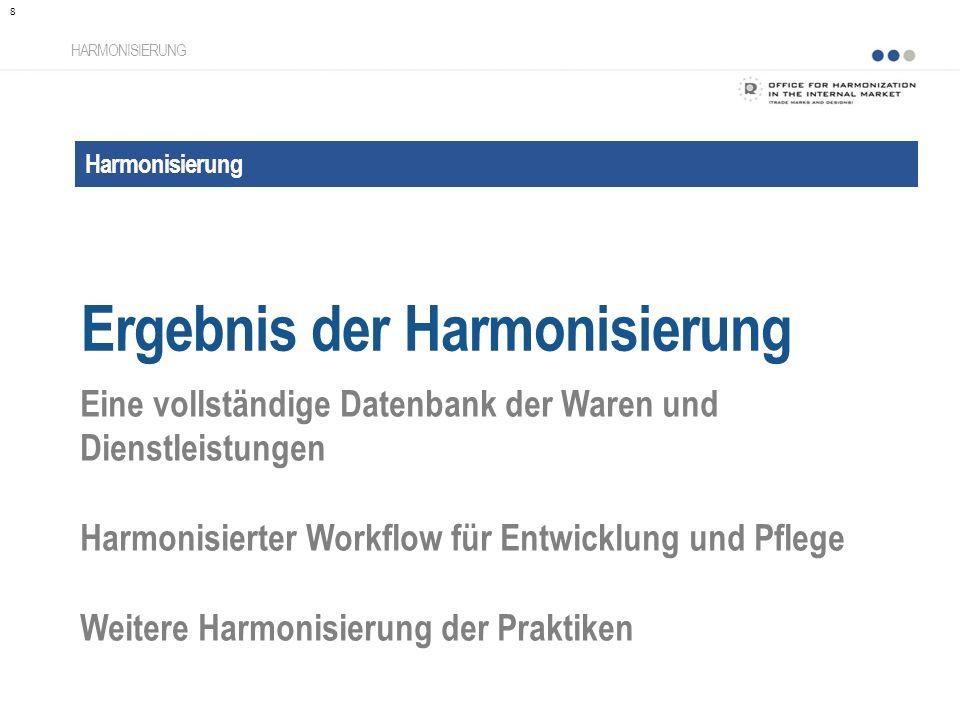 Ergebnis der Harmonisierung