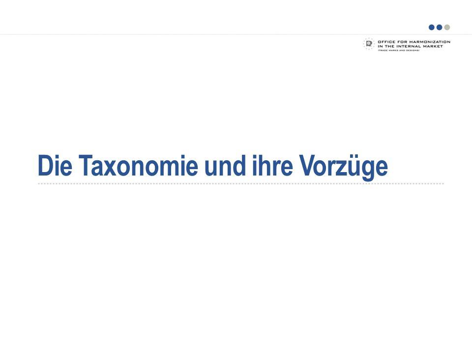 Die Taxonomie und ihre Vorzüge