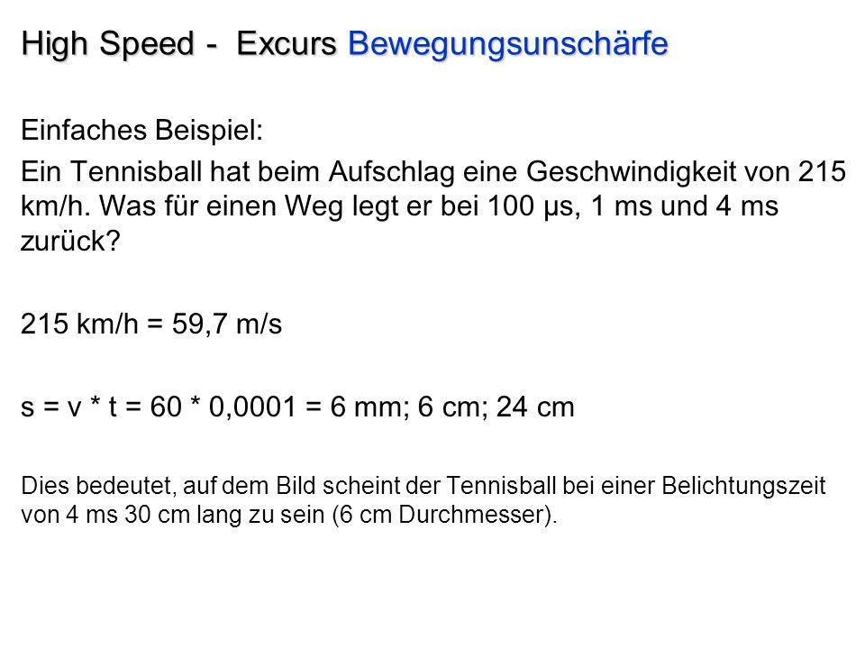 High Speed - Excurs Bewegungsunschärfe