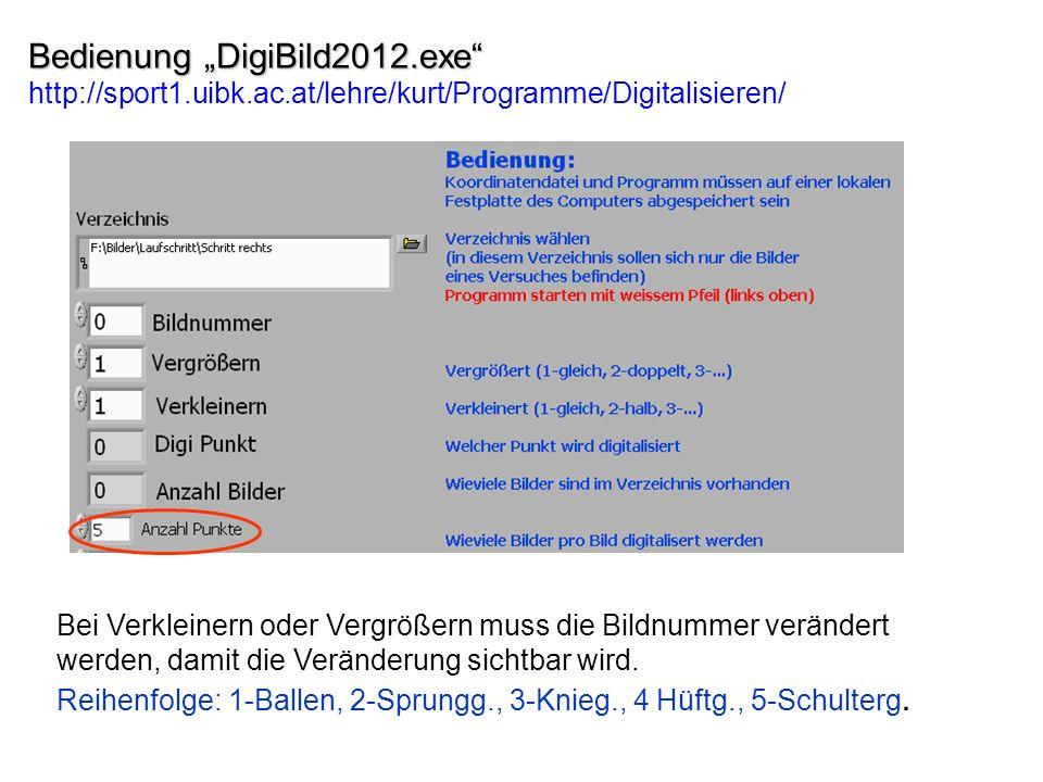 "Bedienung ""DigiBild2012. exe http://sport1. uibk. ac"