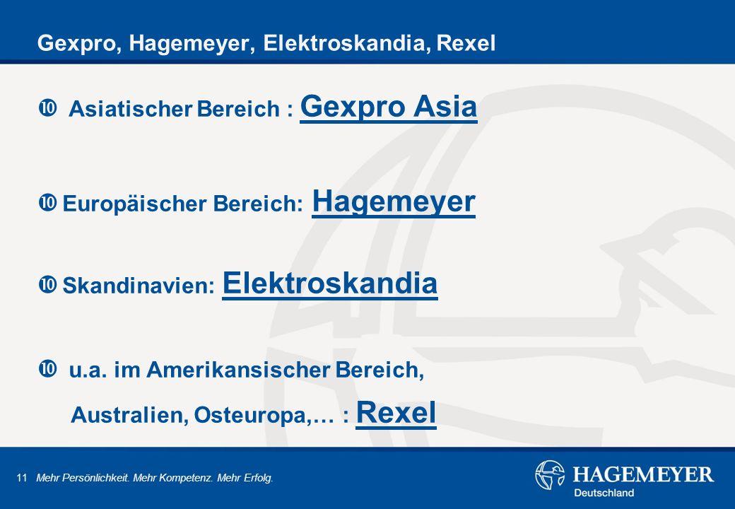 Gexpro, Hagemeyer, Elektroskandia, Rexel