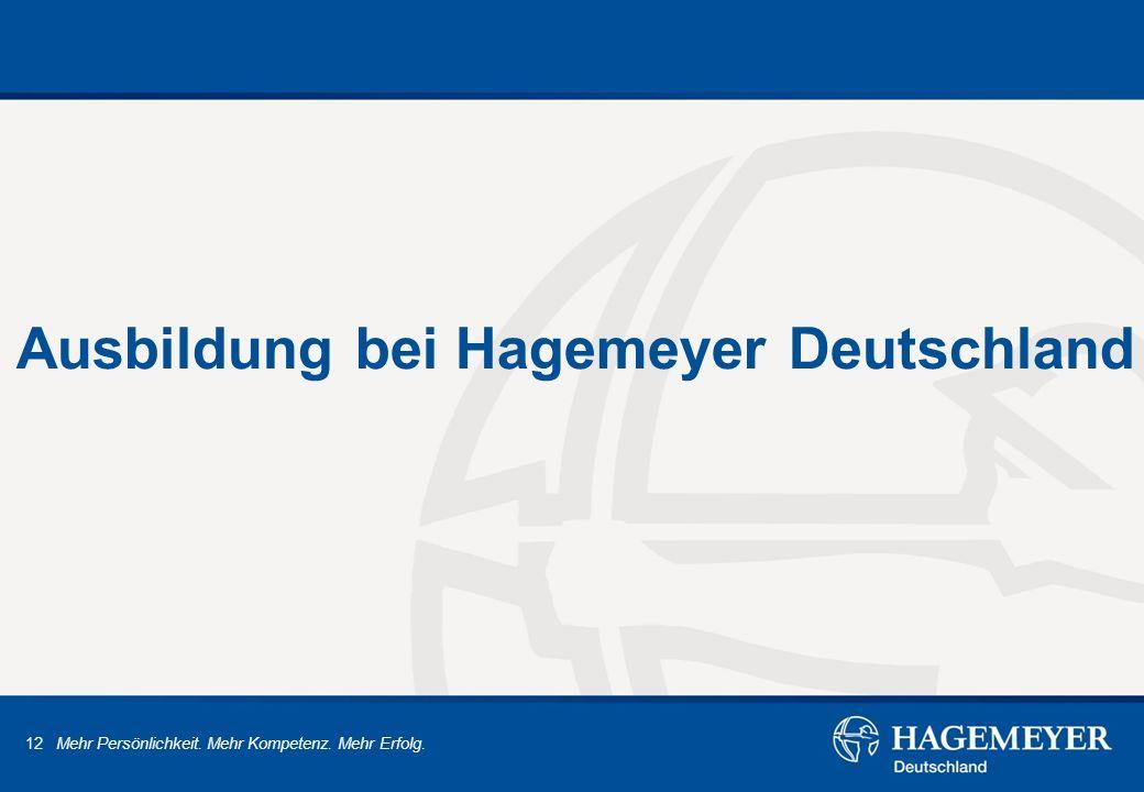Ausbildung bei Hagemeyer Deutschland