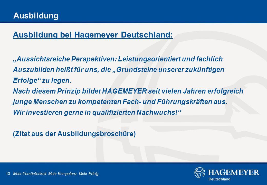 Ausbildung bei Hagemeyer Deutschland: