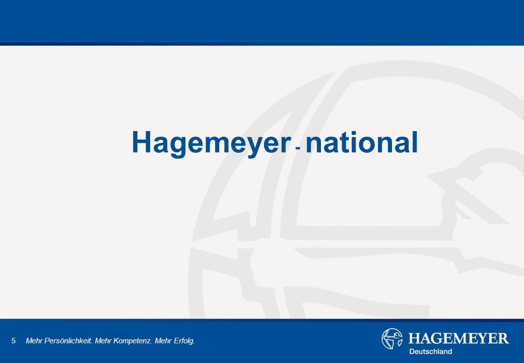 Hagemeyer - national
