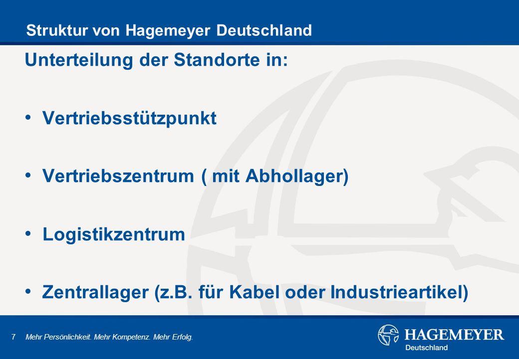 Struktur von Hagemeyer Deutschland