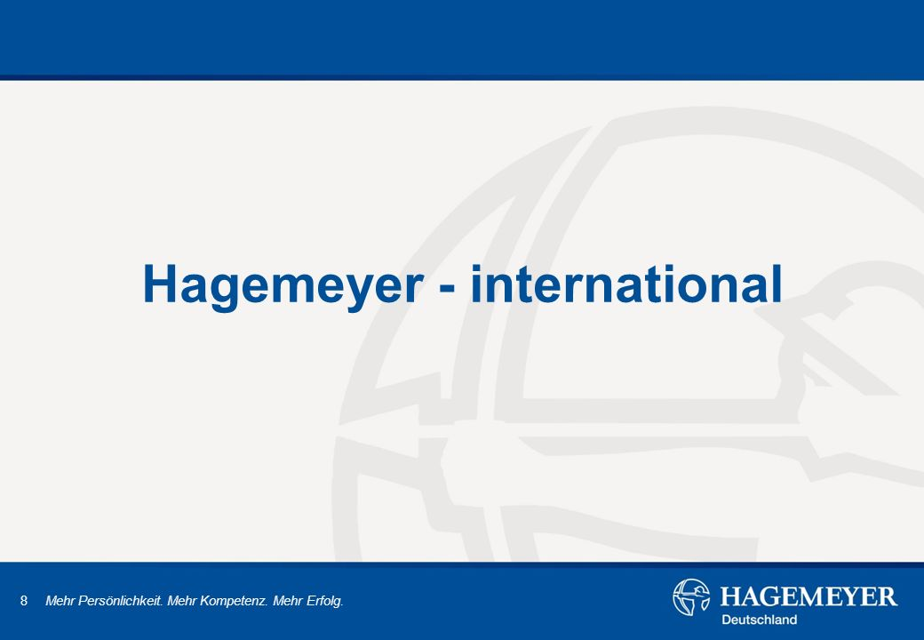 Hagemeyer - international