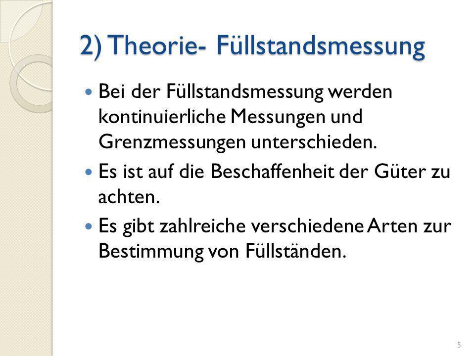 2) Theorie- Füllstandsmessung