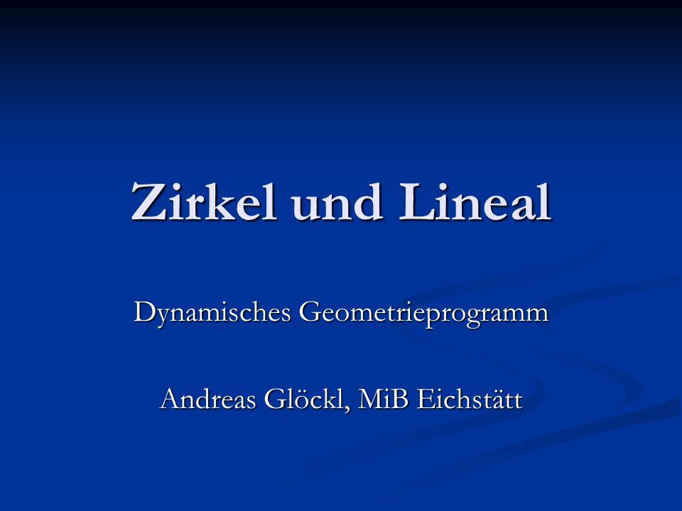 Dynamisches Geometrieprogramm Andreas Glöckl, MiB Eichstätt