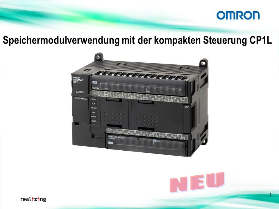 Speichermodulverwendung mit der kompakten Steuerung CP1L