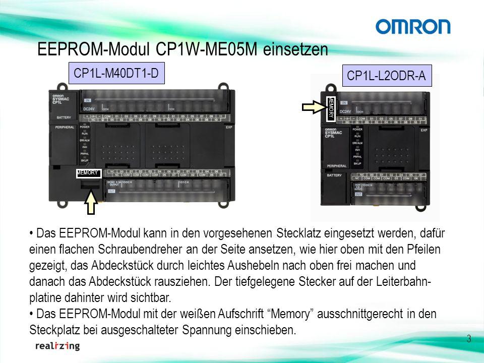 EEPROM-Modul CP1W-ME05M einsetzen