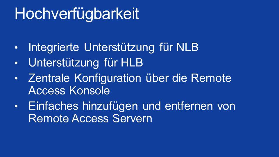 Hochverfügbarkeit Integrierte Unterstützung für NLB