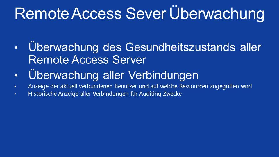 Remote Access Sever Überwachung