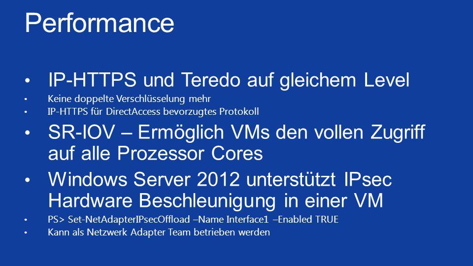 Performance IP-HTTPS und Teredo auf gleichem Level