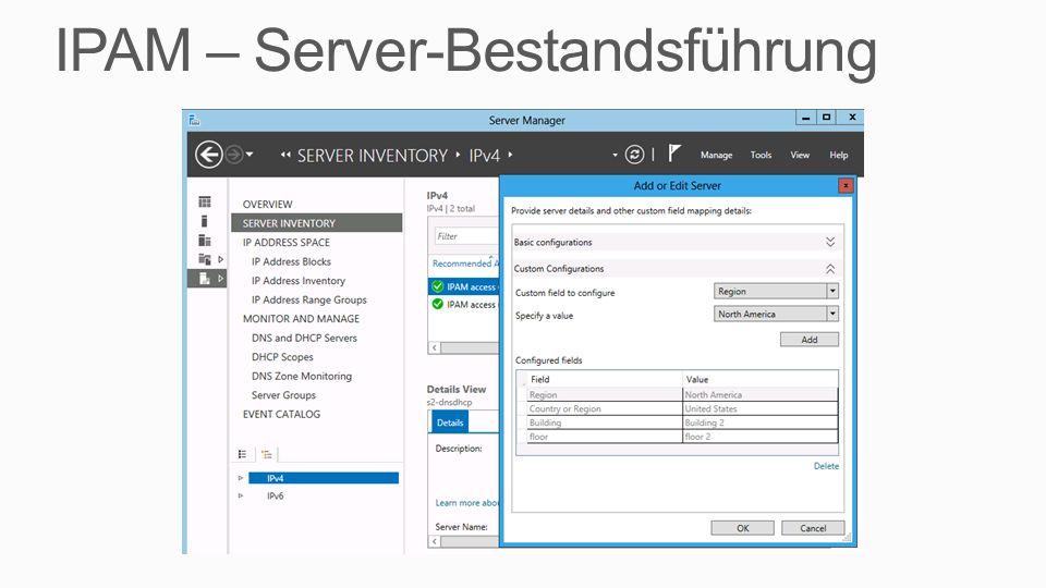 IPAM – Server-Bestandsführung